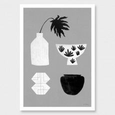 Any finish would look cool for this, but black or white especially | Pots and Vessels Art Print by Samantha Totty