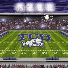 Texas Christian University  football stadium in Ft. Worth. Go Hornfrogs!