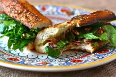 Gaullois Sandwich (Toasted Ham and Brie with Pecans and Sun-dried Tomatoes) via Eat, Live, Run