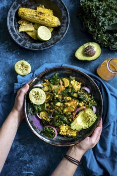 Grilled Corn Kale Salad