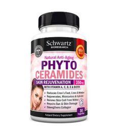 Phytoceramides 350mg with Biotin 5000 Gluten Free Powerful Anti Aging Skin Care #SchwartzBioresearch