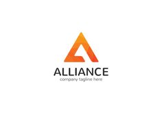 Alliance Letter A Logo by XpertgraphicD on Creative Market Best Logo Design, Branding Design, Branding Ideas, Packaging Design, Logo Design Template, Logo Templates, Alliance Logo, Alphabet, Identity