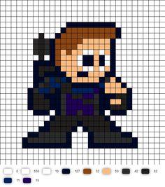 Hawkeye Civil War Perler Bead Pattern