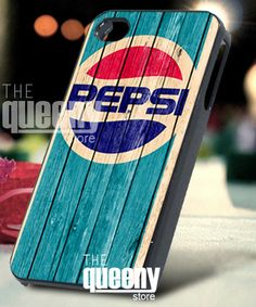 Pepsi Cola retro on wood  iPhone 4/4s/5 Case  by QueenyStore, $15.00