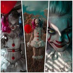 Harley/Pennywise Mash-Up Cosplay