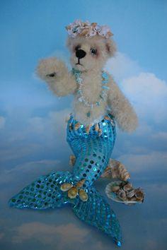 Mermaid Bear  By Linda Hearn Critters Creations