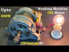 Hack - Electric Generator from an old Washing Machine Motor DIY - Universal Motor to DC Generator conversion with full explaination , wiring and connect. Diy Generator, Homemade Generator, Alternator Repair, Washing Machine Motor, Universal Motor, Stepper Motor, Transformers, 3d Printing, Electric Motor Generator