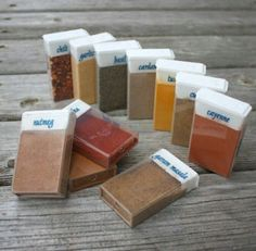 Camping - take your full spice kit/pantry in tictac containers.