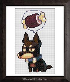 0181 Hungry Dog PDF Cross Stitch pattern by PDFcrossstitch