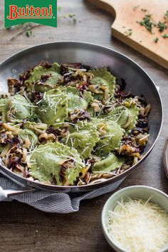 Our Spinach and Artichoke Ravioli paired with sautéed radicchio and endive makes a meal to remember and one to make again and again. Add in nutmeg, endive, thyme and garlic for robust flavor notes. Finish by adding alfredo sauce and  prepared pasta, serve to an eager audience.