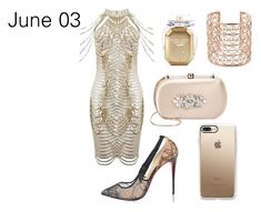 """""""June 03"""" by sofifer ❤ liked on Polyvore featuring Christian Louboutin, Badgley Mischka, Casetify, Co.Ro and Victoria's Secret"""