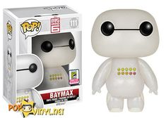 San Diego Comic Con Exclusive - Pop! Disney- Big Hero 6 – Transluscent Glitter Emoticon Baymax SDCC
