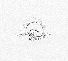 Catch designs inspiration minimalist tattoo tiny 24 minimalist tattoo designs catch your tiny inspiration tattoos butterfly tattoo designs Mini Tattoos, Body Art Tattoos, Small Tattoos, Cool Tattoos, Wave Tattoos, Tatoos, Small Wave Tattoo, Ocean Wave Tattoo, Ocean Tattoos