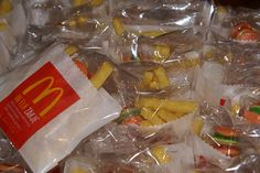 Frietjes met hamburger