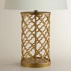 similar at world market Neiman Marcus Regina Andrew Quatrefoil Drum Lamp