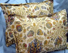 "MARRAKESH PAISLEY - Ralph Lauren Fabric - Pair Custom Made Pillow Shams - 18"" x 18"". $32.00, via Etsy."