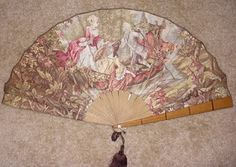 a beautiful 1840s Austrian fan