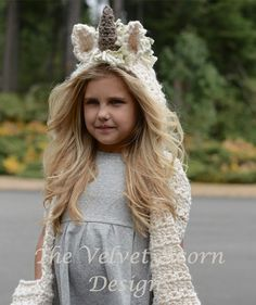 This is a listing for The crochet PATTERN ONLY for The Ulyne Unicorn Hooded Scarf This unicorn hooded scarf is handcrafted and designed with comfort and warmth in mind...this piece can be made with or with out the ears, horn and mane. It can be done as just a hooded scarf with or