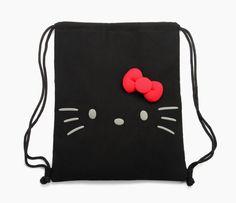 Hello Kitty drawstring bag: we could all use one Hello Kitty Drawing, Wonderful Day, Hello Kitty Items, Big Face, Cat Bag, Pin On, String Bag, Amber Rose, Cute Backpacks