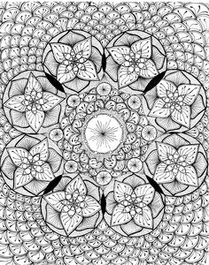 mehndi circles henna zentangle coloring page available as pdf for easy printing