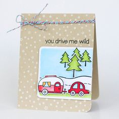 Lawn Fawn - Happy Trails, Starry Backdrops, Stitched Journaling Card _ by Latisha for Lawn Fawn Design Team