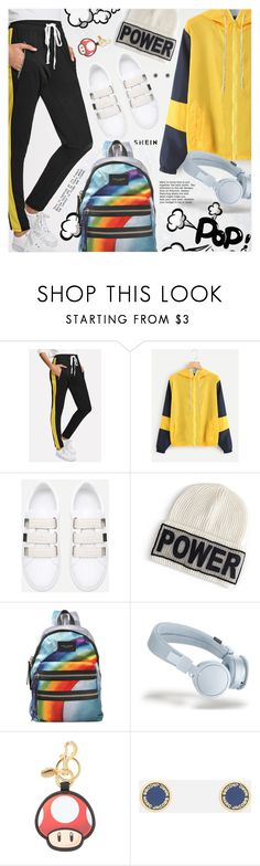 """""""Sporty Style"""" by pokadoll ❤ liked on Polyvore featuring Versace, Marc Jacobs and Moschino"""