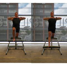 Lower Body Workout Challenge on the Pilates Chair: Single Leg Pumps - Kneeling Front