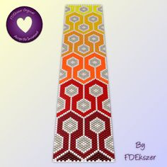Peyote Beading Pattern or Loom Pattern: Reaction PDF - 3 for 2 mix and match sale - bp105. $6.50, via Etsy.