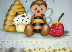 """Pano de prato """"abelhinha"""""""