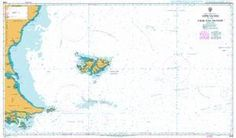 British Admiralty Nautical Chart 2505: Approaches to the Falkland Islands