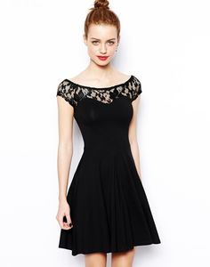 New Look Lace Yoke Skater Dress http://picvpic.com/women-dresses-day-dresses/new-look-lace-yoke-skater-dress?ref=QA8LwA