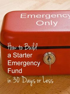 Step-by-step tips on getting an emergency fund started in 30 days or less. Personal Finance tips