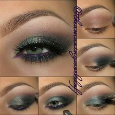 Green & Purple Eyes . See how you can recreate this look on pampadour.com