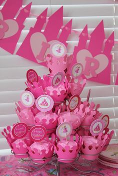 princess themed 1st birthday party ideas | in pink! It is a pinkalicious party after all!) from Princess Party ...