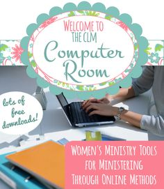 Online Technology Tools for Women's Ministry:  from Creative Ladies Ministry.  This is a new section of the website with lots of graphics you can add text to and use for Women's Ministry.