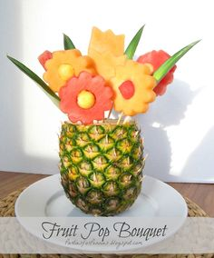 DIY edible arrangements. In lieu of gifting real flowers (mom would love it!)