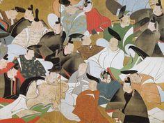 Title:三十六歌仙図屏風 部分 The thirty-six immortal poets Artist:酒井抱一 Sakai Hoitsu