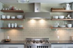 Khaki glass Subway tile kitchen backsplash: Found at http://www.subwaytileoutlet.com/