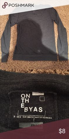 On The Byas sweatshirt This sweatshirt is thin and soft! Great buy on the byas Sweaters Crewneck