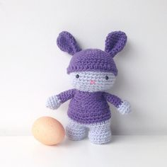 My first completed #amigurumi in forever I couldn't resist this pattern by CreepyandCute on Etsy - Now I have to make another one so they can be Easter presents #crochet by gretbert