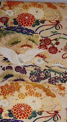Vintage Maru obi kimono sash decoration by SACHIandCOMPANY on Etsy SOLD