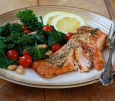 State of Slim, Baked Salmon with Mustard Dill Sauce