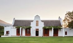 Simplicity, authenticity and practical magic define the traditional Cape Dutch homestead at Babylonstoren. Tor Design, House Design, Holland House, Cape Dutch, Main Gate Design, Dutch House, Modern Farmhouse Exterior, Cottage House Plans, Spanish House