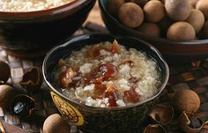longan rice pudding with shaoxing wine   Taiwanese dessert #recipe in Chinese