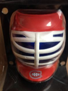 NHL MONTREAL CANADIENS BOTTLE OR CAN CUP GOALIE MASK holder
