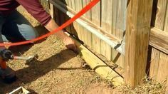 How to keep your dog from digging his way under the fence - Much better than my concrete idea.  haha