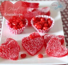 strawberry gumdrop hearts recipe So fun and everyone loves them for Valentines Day