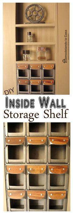 DIY - Between the Studs Shelf - Closet Makeover - Uncover hidden storage space in your walls.