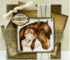 Best of Friends - Boy [C1089] - $8.00 : Whimsy Stamps