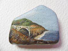 Bixby+Creek+Bridge+California++Acrylic+by+ShePaintsSeaglass